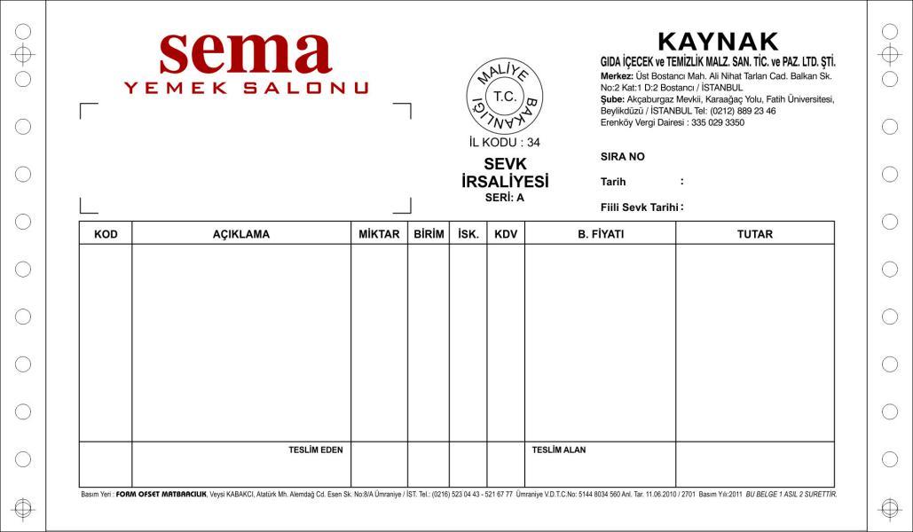 Sürekli Form - İstanbul Form Ofset Matbaacılık